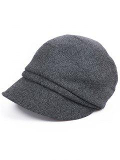 British Style Solid Color Newsboy Cap - Carbon Gray