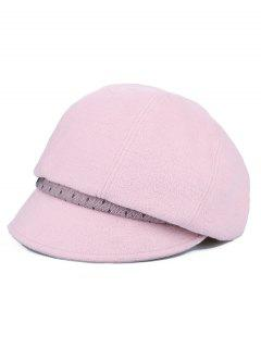 Solid Color British Style Beret - Light Pink