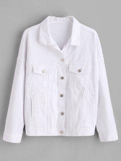 ZAFUL Pockets Western Denim Jacket - Blanco M