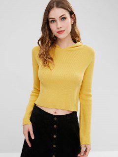 ZAFUL - Pullover Mit Gerippter Kapuze Und Kurzem Ausschnitt - Gelb S