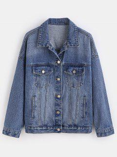 ZAFUL Western Denim Jacket - Blue L