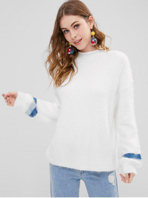 Pull à épaules dénudées surdimensionné - Blanc Lait Taille Unique Mobile