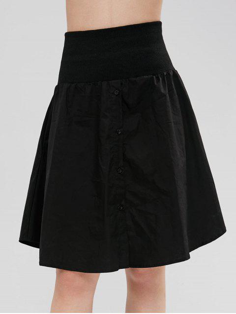 Knöpfen Sie eine Linie Shirt Rock - Schwarz M Mobile