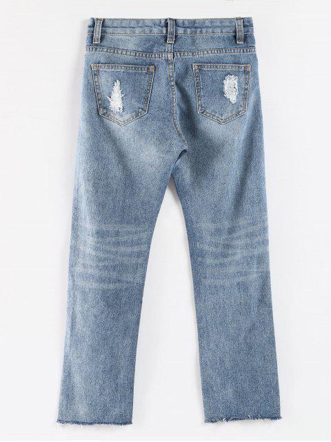 Vaqueros ocasionales desgastados con dobladillo sin rematar - Azul de Jeans  M Mobile