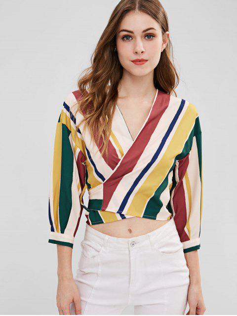 Top con rayas anudadas - Multicolor L Mobile