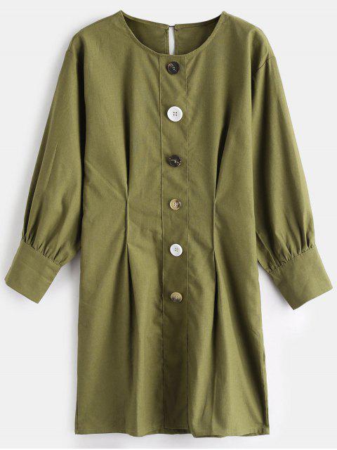Mini vestido casual abotonado - Verde de Aguacate  L Mobile