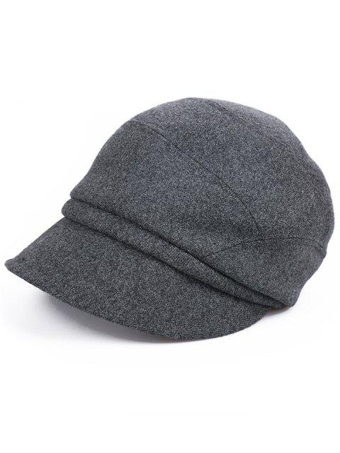 outfits British Style Solid Color Newsboy Cap - CARBON GRAY  Mobile