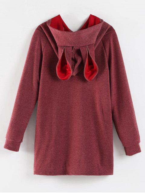 new Rabbit Ear Marled Hoodie - PALE VIOLET RED XL Mobile
