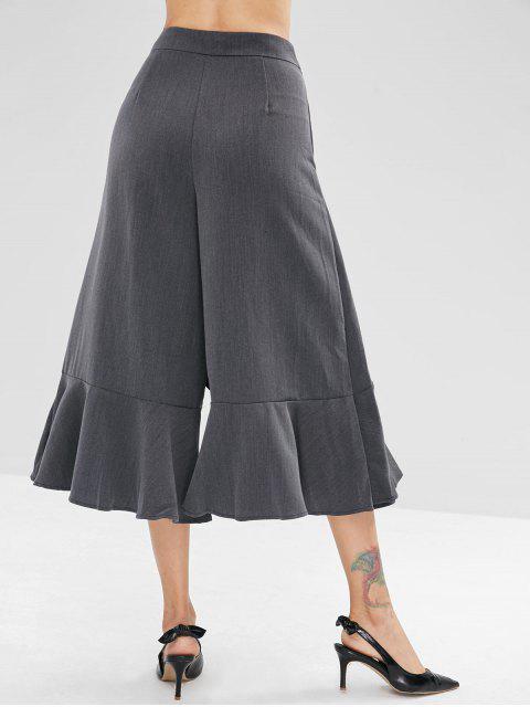 Pantalones de pierna ancha Capri volante - Gris Oscuro M Mobile