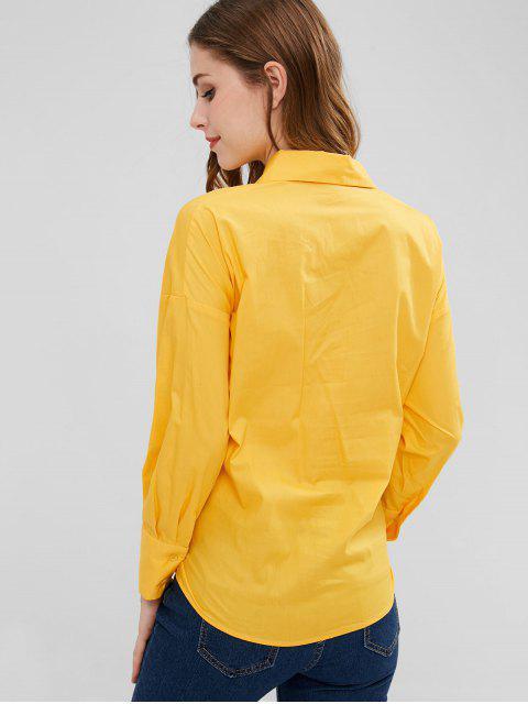 Camisa con cordones de cintura - Caucho Ducky Amarillo S Mobile