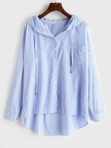 بالاضافة الى حجم ارتفاع منخفض شريط قميص مقنع - سماء الأزرق 3x