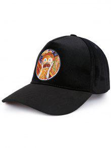 اللوحة الجدة نمط قبعة الشمس - أسود