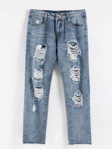 الخام هيم يؤلمها الجينز عارضة - جينز ازرق M