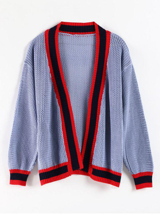outfit Open Knit Open Front Cardigan - SEA BLUE ONE SIZE