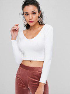 Suéter Recortado - Blanco