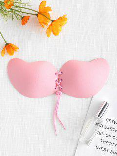 Lacing Self Adhesive Backless Bra - Pink Cup C