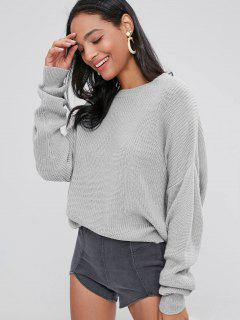 ZAFUL Pull Chunky Knit Loose - Gris Clair