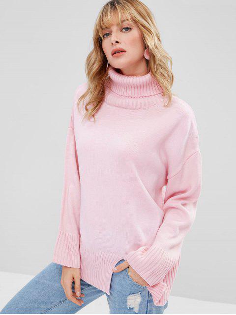 Jersey de cuello alto de talla grande extragrande - Rosado Única Talla Mobile