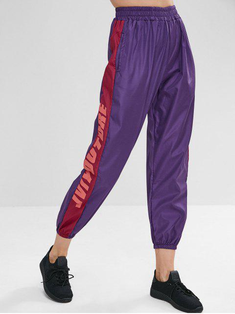 women's Jviyouture Graphic Jogger Pants - LOVELY PURPLE M Mobile