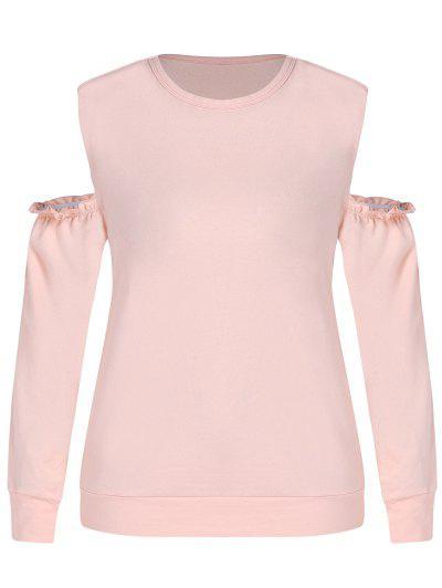 ZAFUL Übergröße Sweatshirt Mit Offener Schulter - Orange Rosa L