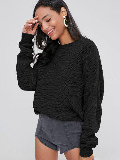 0ffb65cfb31 ZAFUL Chunky Knit Loose Sweater - Black ...