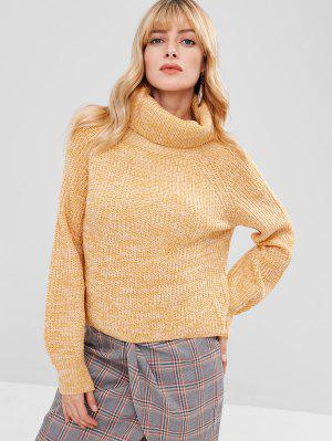 Rollkragen Heathered Pullover Sweater