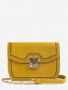 حقيبة كروس بودي جلد PU معدنية - نحلة صفراء
