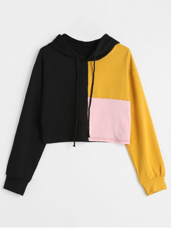 Sudadera con capucha de tres tonos - Multicolor M
