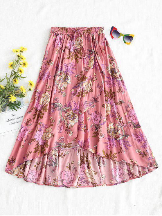 Saia Midi Floral Completa - Rosa M
