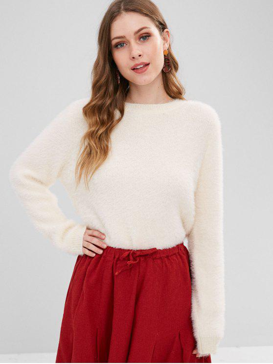 sale Pullover Fluffy Fuzzy Sweater - APRICOT ONE SIZE