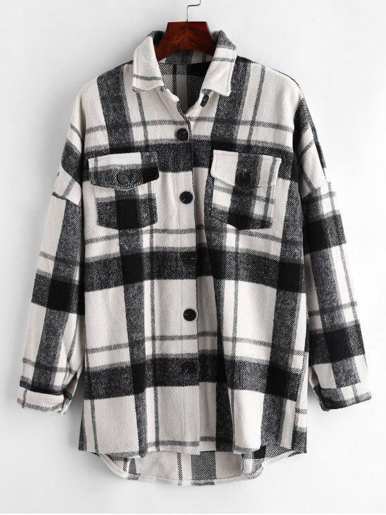 Manteau de poche à carreaux - Multi Taille Unique
