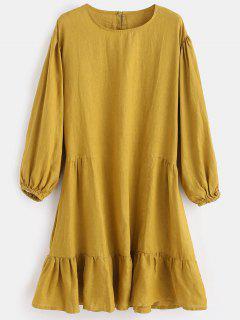 Vestido Trasero Con Abertura En La Cintura - Vara De Oro