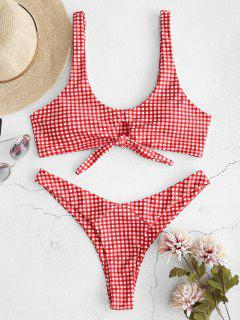ZAFUL Knotted Thong Bikini Set - Red S