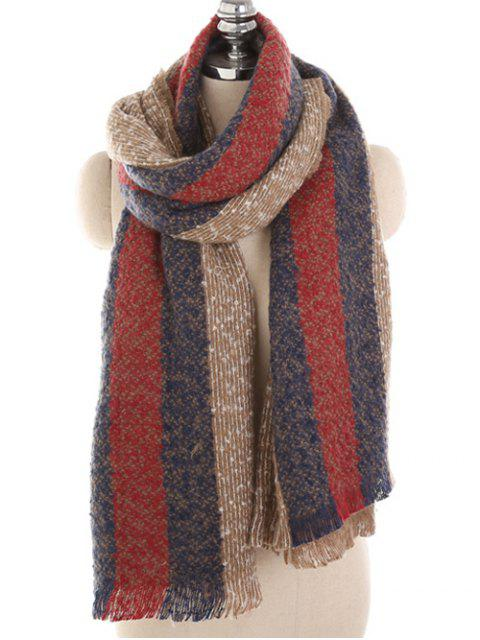 best Winter Striped Thicken Long Scarf - TAN  Mobile