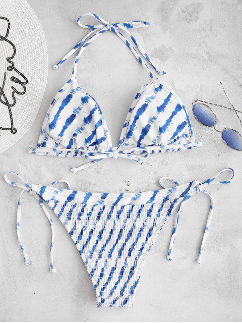 ZAFUL Ensemble de Bikini Teinté Plissé à Col Halter - Blanc M Mobile