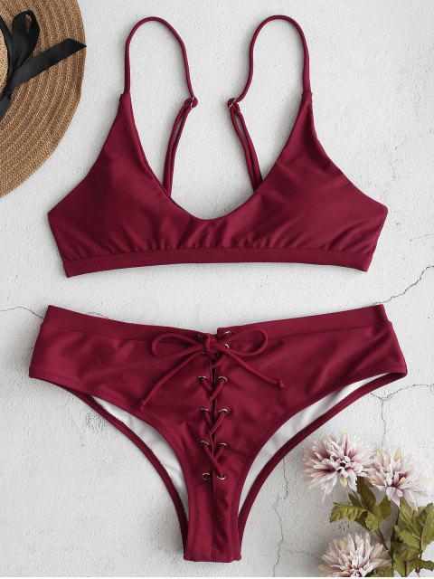 Bikini de camuflaje con cordones ZAFUL - Ladrillo Refractario L Mobile