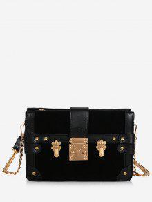 حقيبة كروس بسلسلة - أسود
