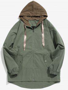 اثنين من لهجة عادية مقنعين معطف - الجيش الأخضر Xs