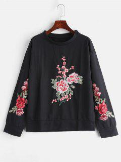 Embroidered Sweatshirt - Black S
