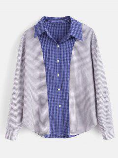 Spliced Checked Gingham Shirt - Multi M