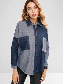 Denim Pocket Jean Jacket - Denim Dark Blue