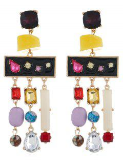 Pendientes Colgantes De Flecos De Diamantes De Imitación De Color - Multicolor