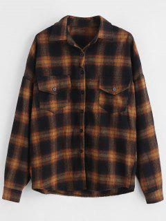 Pocket Button Up Plaid Shirt - Multi