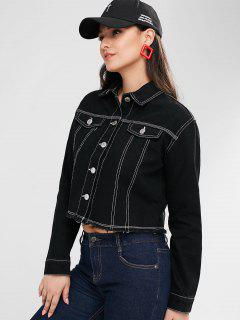 Pockets Frayed Jacket - Black Xs
