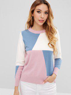 Color Block Pullover Sweater - Multi