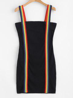 Vestido Ajustado Con Minifalda Y Rayas De Rainbow Mini - Negro S
