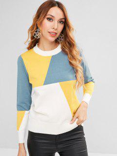 Pullover Color Block Sweater - Multi