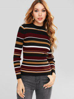 ZAFUL Pull Color Block Jumper - Multi