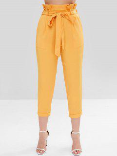 Bolsa De Papel ZAFUL Pantalones De Talle Alto - Amarillo L