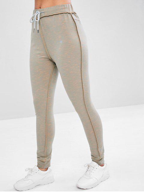 Pantalon de Jogging Cousu Chiné - Gris L Mobile